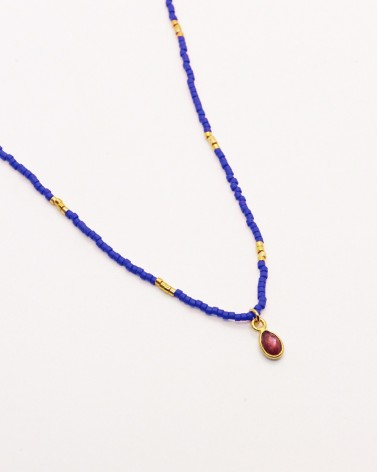 Nilai - Necklace Little India Agate Rouge