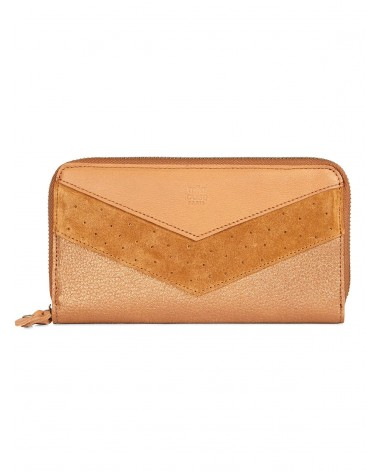 Mila Louise - Portefeuille cuir PATSY Camel