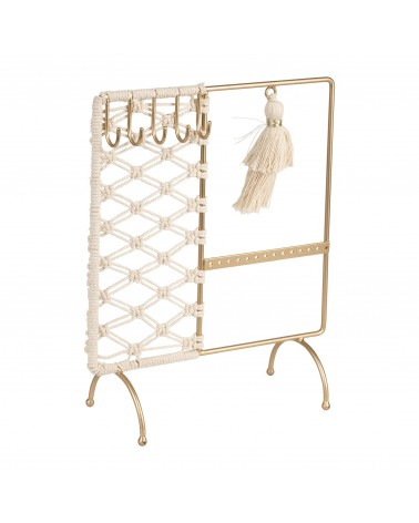 SEMA Design - Jewelry holder Macrame Natural Gold