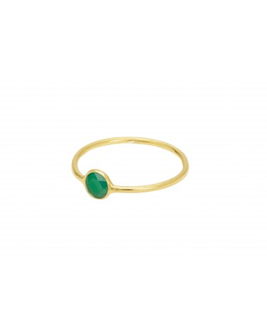 Une A Une - SOLITAIRE RING GREEN ONEX