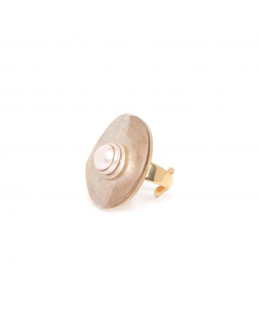 SWEET PEARL bague capiz & perle culture - Nature Bijoux