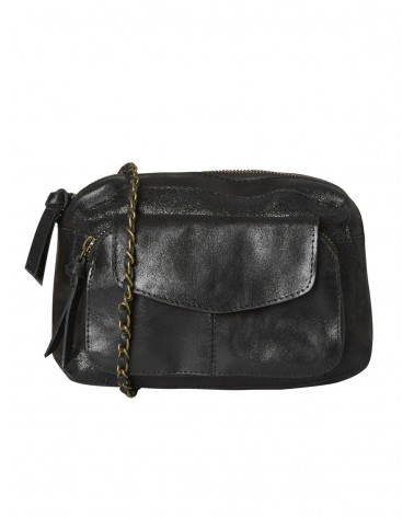 PIECES - PCNAINA Large Leather bag Crossbody bag for Women Black Snow