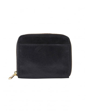 PIECES - PCGUN Leather Suede Wallet Black Snow