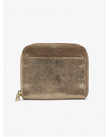 PIECES - PCGUN Leather Suede Wallet Gold Snow