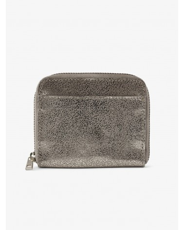 PIECES - PCGUN Leather Suede Wallet Silver Snow
