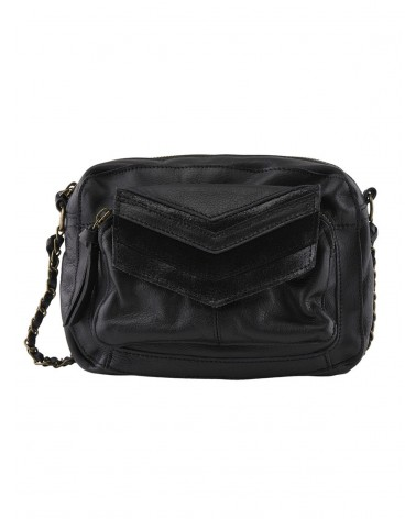 PIECES - PCGINA Leather bag Crossbody bag for Women Black Snow