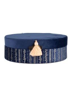 Lampe porcelaine cylindrique Madarin moyenne SEMA