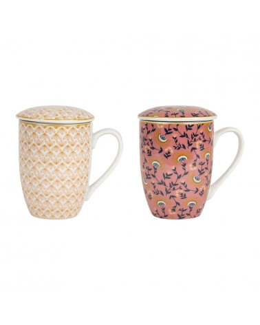 SEMA Design - Gift box of 2 mugs with filter VEGETAL GIRLY