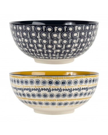 Sema Design -  Salad Bowls Flaural Blue