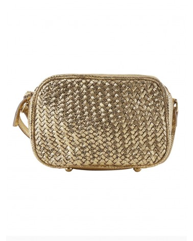 PIECES - PCGAZEL Leather bag Large Crossbody bag for Women Gold Snake