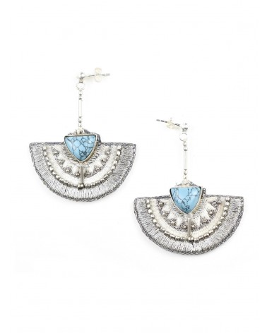 Earrings KALIE Turquoise NAHUA
