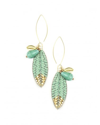 Earrings OSIRIS Turquoise NAHUA