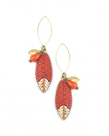 Earrings OSIRIS Coral NAHUA