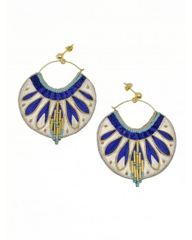 Earrings APIE Blue Greek NAHUA