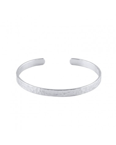 OZHAO Hammered open bangle bracelet in 925 silver