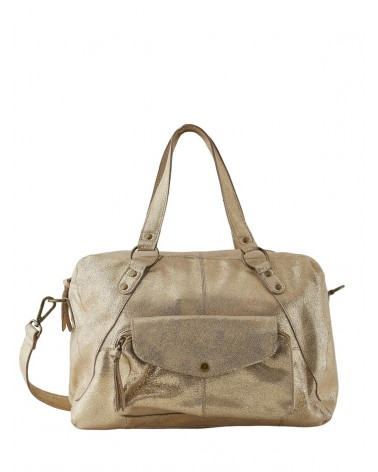 PCLIV Gold Snow Leather Daily bag PIECES