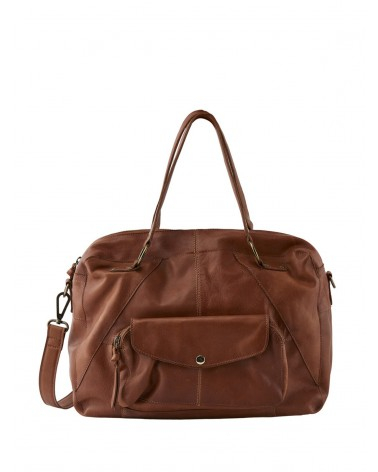 PCLIV Root Beer Leather Daily bag PIECES