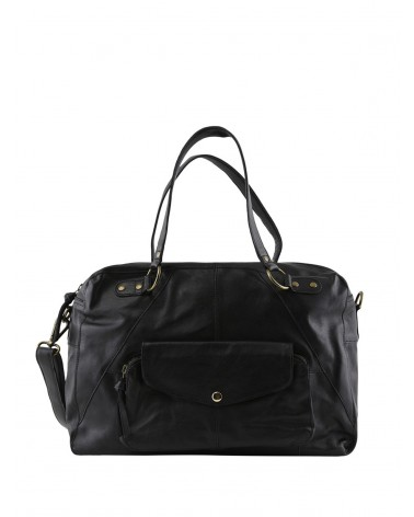 PCLIV Black Leather Daily bag PIECES