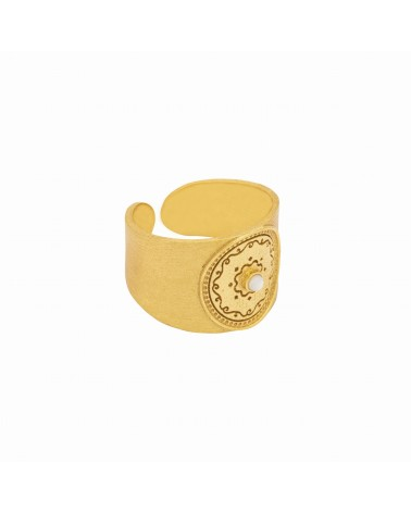 INDIA PEARL MEDAL RING Une A Une