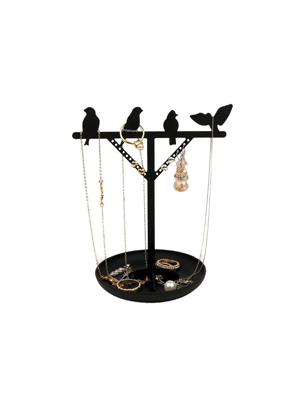 Porte-bijoux métallique noir Oiseaux KIKKERLAND