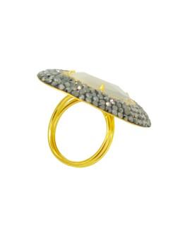 AZUL Boucle d'oreilles crochets XL Nature bijoux