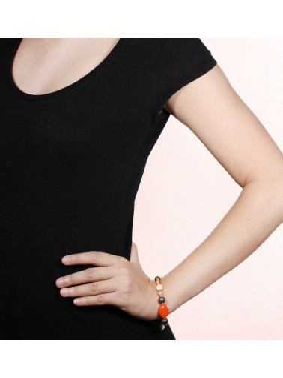 MOOREA bracelet extensible 2 & 1 rang Nature bijoux