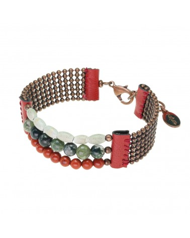 RED HORN bracelet 3 rangs Nature bijoux