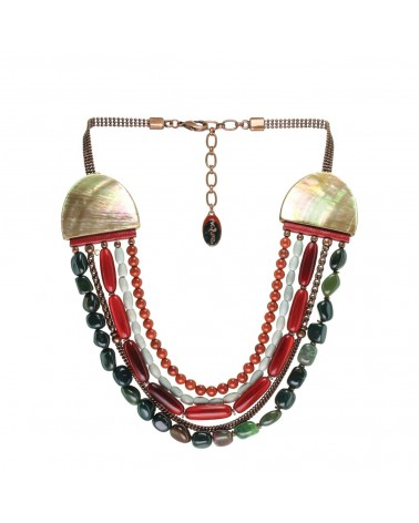 RED HORN collier 5 rangs Nature bijoux