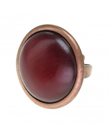 RED HORN grosse bague corne Nature bijoux