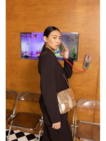Trousse en Tyvek Texon Triangles Noir et Karft Paprcuts