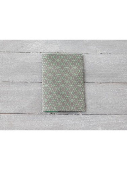 Protège passeport en Tyvek Hexagones gris et verts Paprcuts