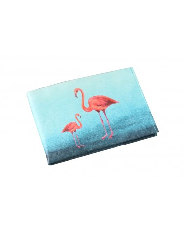 Portefeuille en Tyvek Flamants Roses Paprcuts