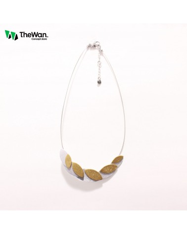 Collier feuille en aluminium Culture Mix