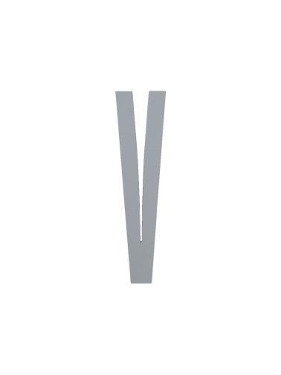 Lettre en bois de bouleau gris -A- Design letters