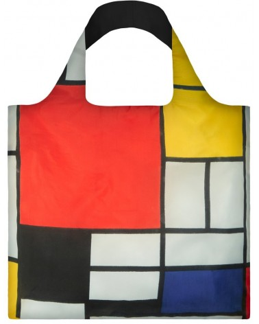 Sac de courses pliable PIET MONDRIAN Composition Red Yellow Blue Black LOQI