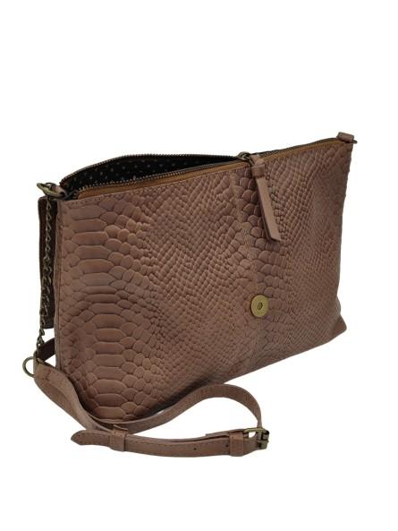 Boucles d'oreille brodées DAMILA Argenté Bleu Nahua