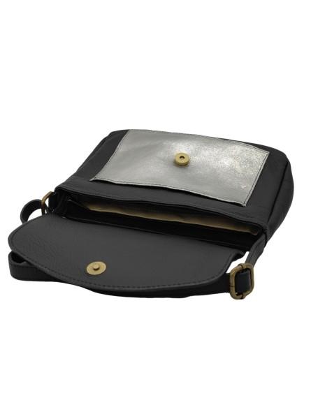 Bracelet en cuir Tara mini aimant Black Star Ashley Flowers for Zoé