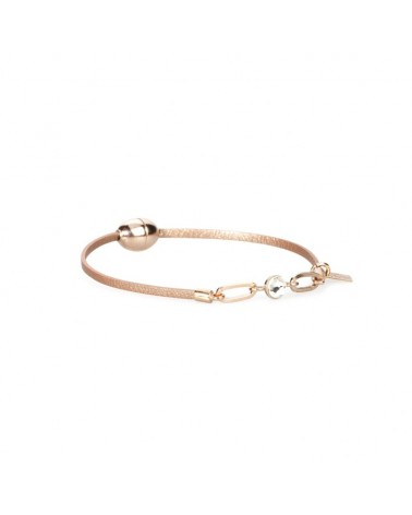 Bracelet en cuir Rita finesse mini aimant Or Rosé Flowers for Zoé