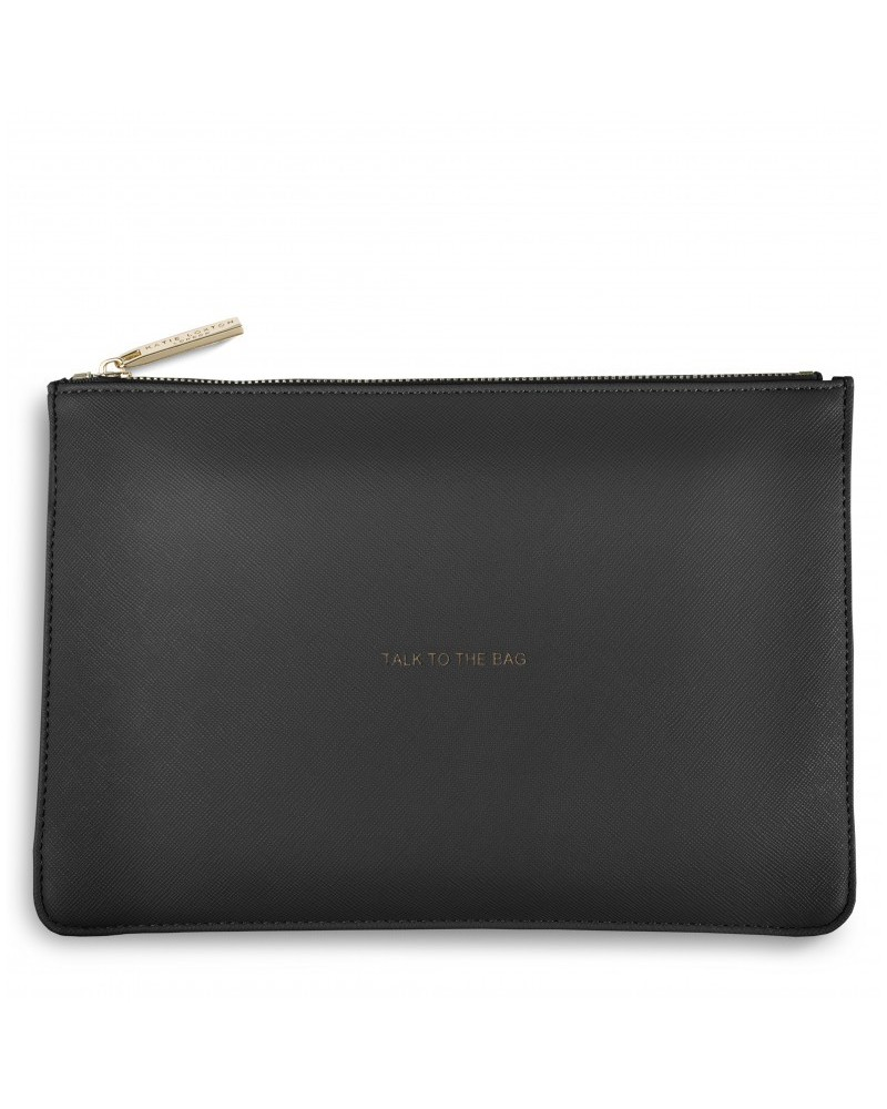 Pochette parfaite TALK TO THE BAG Gris Katie Loxton