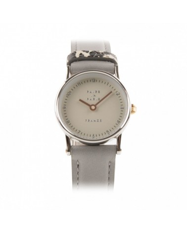 Montre Pairs in Paris Cuir Gris Perle Xme