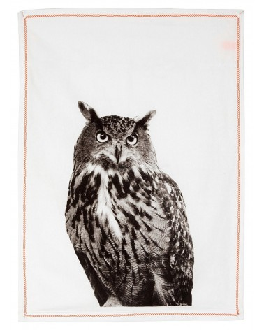 Present time Tea Towel Grid Fox
