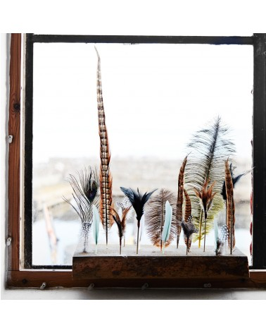 Pearl Feathers on stick Madam Stoltz