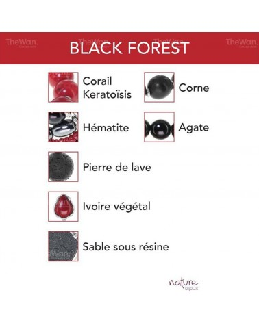 BLACK FOREST collier cascade Nature bijoux