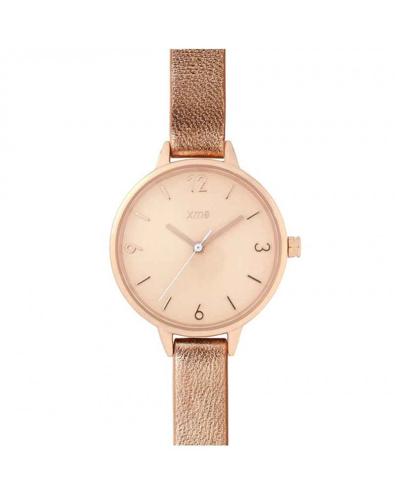 Montre Capucine Champagne Agneau Or Rose Xme