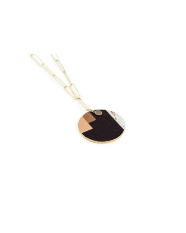 Necklace Grace XL Black Star by Flowers for Zoé