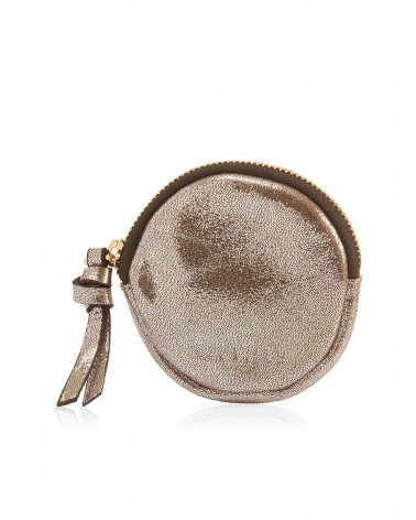 Leather circle pouch Tondo Lezard Green by Neuville