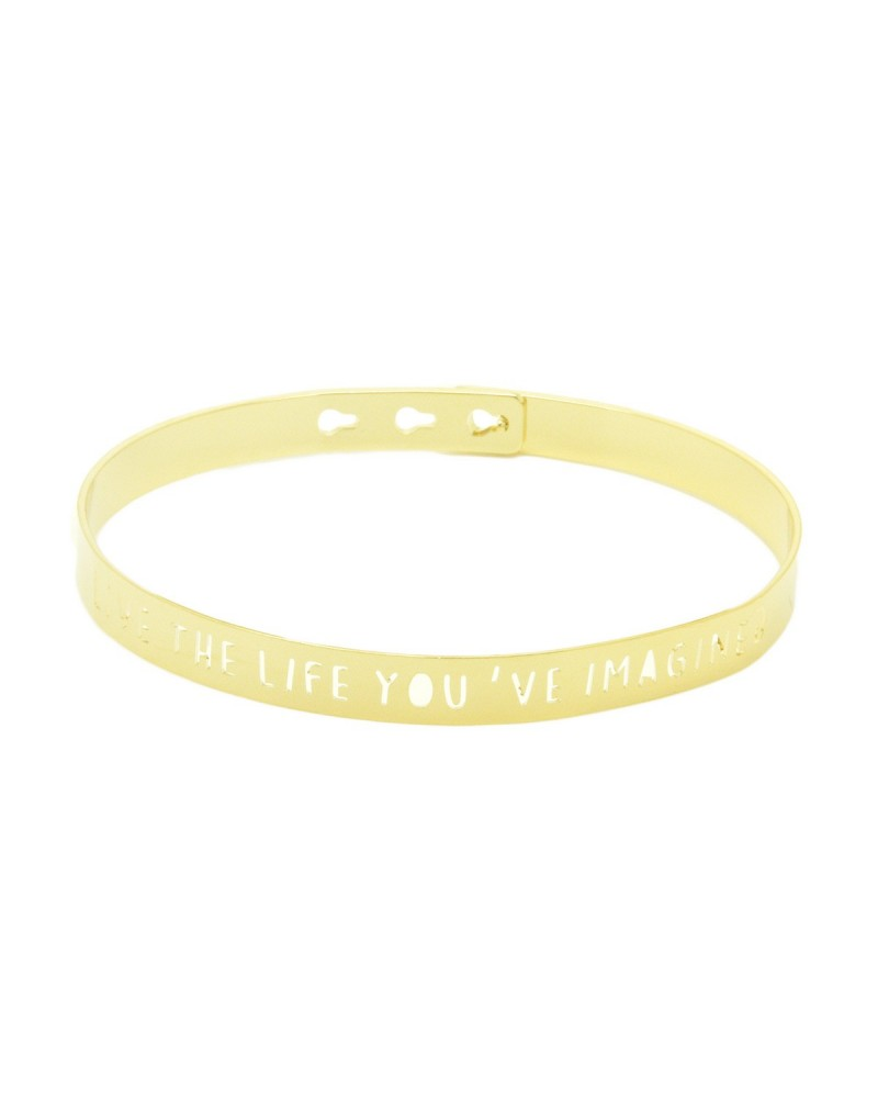Bracelet Jonc LIVE THE LIFE YOU IMAGINED by Mya Bay