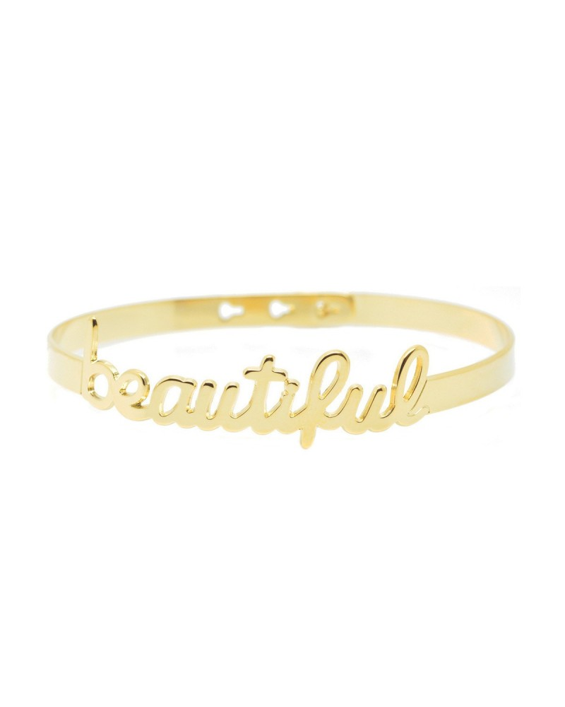 Bracelet Jonc Happiness Script by Mya Bay