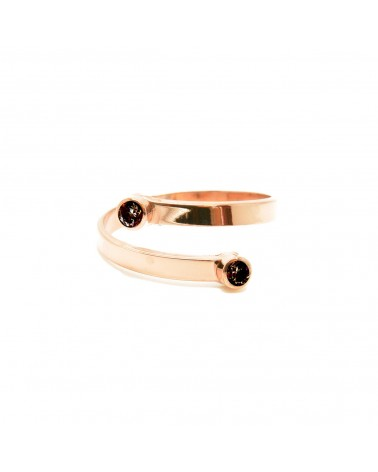 Bague serpent 2 pierres noires Mya Bay