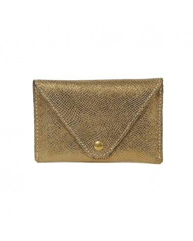 Leather Wallet Chicago Bronze by Antoinette Ameska